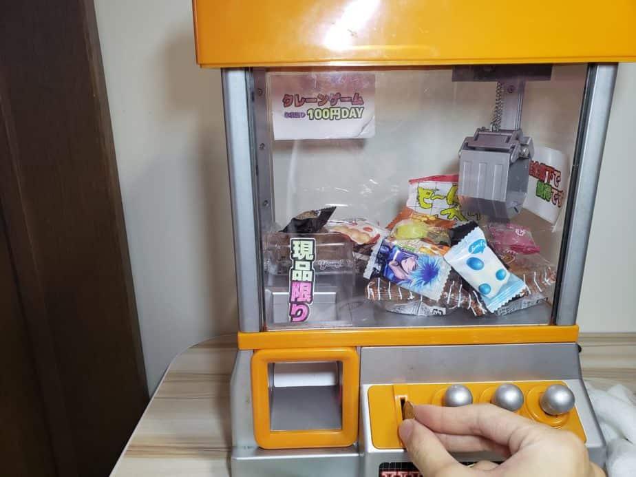 お菓子クレーンゲーム