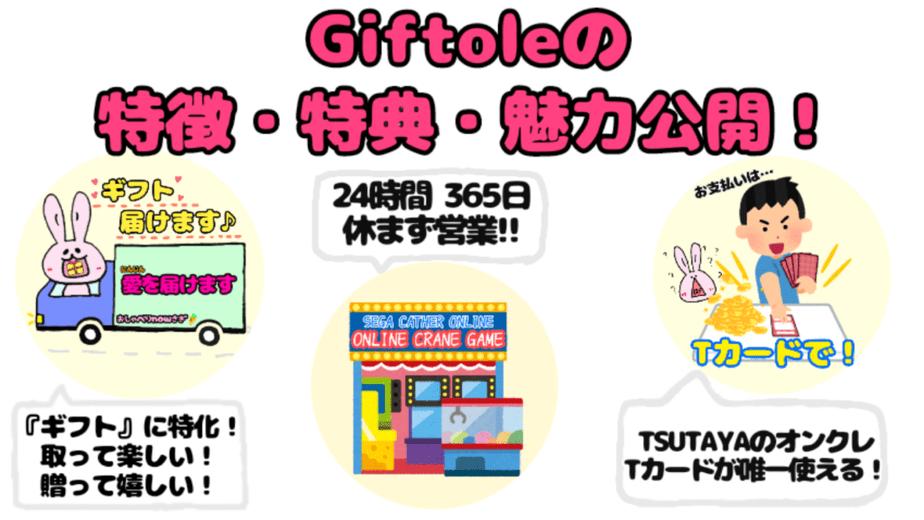 Giftole特徴・特典・魅力