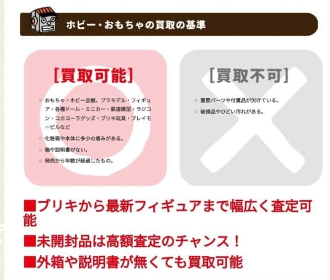 いーあきんど(eあきんど)の買取の基準について