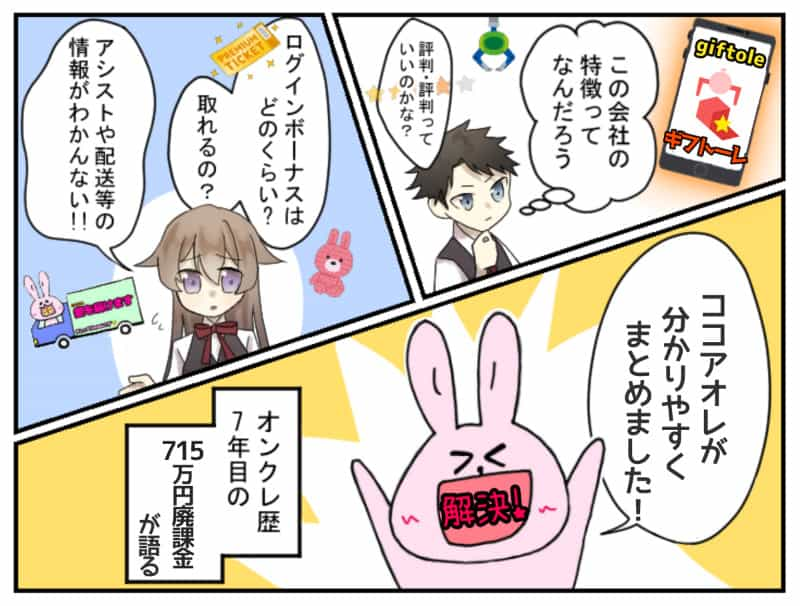 Giftoleギフトーレ評価・評判